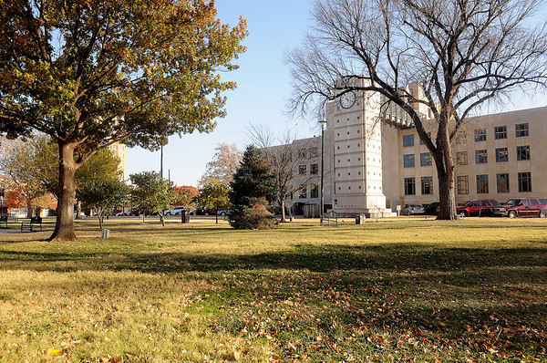 Garfield County Commissioners may convert the court house lawn into a parking lot. (Staff Photo by BONNIE VCULEK)