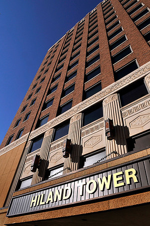 The former Continental Tower North now bears the name Hiland Tower. (Staff Photo by BILLY HEFTON)