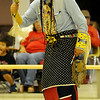 Chris Yellow Eagle participates during the Gourd Dancing Saturday during the Enid Inter-Tribal Club ceremony at the Hoover Building. (Staff Photo by BONNIE VCULEK)