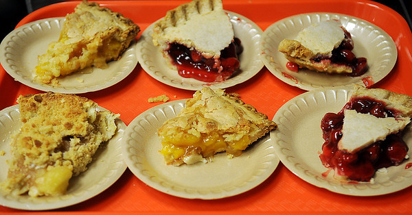 Delicious desserts fill a tray Thursday during the annual Thanksgiving Day meal at the First Baptist Church. (Staff Photo by BONNIE VCULEK)