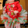 McKartey Curttright dances inside Oakwood Mall as she waits for Santa Friday. Curttright and her 3-month old sister, Berlyn, were visiting jolly ol' St. Nick for the first time. (Staff Photo by BONNIE VCULEK)