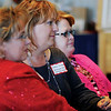 Women listen during the keynote address on agri-tourism the Red Carpet Tourism Conference in Convention Hall Tuesday, Nov. 12, 2013. (Staff Photo by BONNIE VCULEK)