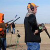 Wyoming Gov. Matt Mead (right) ejects a shell casing from his gun as he reloads during the Grand National Quail Hunt competition rounds at the Grand National Gun Club Thursday, Nov. 14, 2013. (Staff Photo by BONNIE VCULEK)