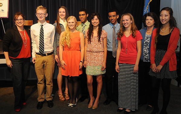 Enid High School Advanced Placement Students (Staff Photo by BONNIE VCULEK)