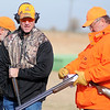 Wyoming Gov. Matt Mead (left) competes during the Grand National Quail Hunt at the Grand National Gun Club Thursday, Nov. 14, 2013. (Staff Photo by BONNIE VCULEK)