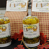 Over The Fence Farms sweet and spicy pickles and bread mixes made in Oklahoma products by Linda Beguin, were available during the Officers' Spouses' Club Holiday Marketplace at the Chisholm Trail Pavilion Saturday, Nov. 9, 2013. (Staff Photo by BONNIE VCULEK)