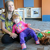 Chelsey Mitchell and her daughter  Jacey spend quality time together inside the CDSA children's educational area Friday, Nov. 1, 2013. The Mitchell family participates in the Parents as Teachers program. CDSA recently received a grant that would fund three additional parent educators. (Staff Photo by BONNIE VCULEK)