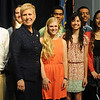 Dr. Janet Barresi with Enid High School Advanced Placement students (Staff Photo by BONNIE VCULEK)