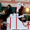 Santa arrives for Enid Lights Up the Plains Friday, Nov. 28, 2014. (Staff Photo by BONNIE VCULEK)