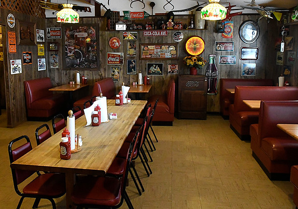 Dining room at Turkey Creek BBQ in Lahoma. The restaurant has reopened after being closed for over a year. (Billy Hefton / Enid News & Eagle)