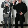 Frank Baker and Mike Weatherford of the Gaslight Theater production of A Christmas Carol. (Billy Hefton / Enid News & Eagle)
