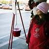 Linda Jones rings a bell for the Salvation Army Red Kettle drive Wednesday November 23, 2016 at Jumbos West. (Billy Hefton / Enid News & Eagle)