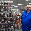 Gary Williams stands next a counter in one of three On Deck stores inside Oakwood Mall Tuesday November 13, 2018. (Billy Hefton / Enid News & Eagle)