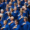 Members of the Singing Churchwomen of Oklahoma perform during the Celebrate America concert Thursday November 15, 2018 at the Central National Bank Center. (Billy Hefton / Enid News & Eagle)
