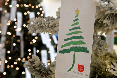 Angel Tree at the Salvation Army Angel Tree store inside Oakwood Mall Tuesday, November 17, 2020. (Billy Hefton / Enid News & Eagle)
