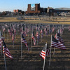 Enid Rotory Club's Field of Honor at the corner of Grand and Park Friday, November 6, 2020. (Billy Hefton / Enid News & Eagle)