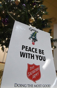 Salvation Army Angel Tree store inside Oakwood Mall Tuesday, November 17, 2020. (Billy Hefton / Enid News & Eagle)