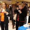 Enid residents enjoy 40 different chili recipes Friday during the 25th annual United Way Chili Cookoff at the Cherokee Strip Conference Center. (Staff Photo by BONNIE VCULEK)