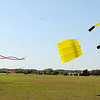 American Kitefliers Association Certified Kite Pilots compete in the soft kite competition Wednesday near Autry Technology Center. (Staff Photo by BONNIE VCULEK)