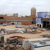 Work continues on the new downtown Renaissance Project Thursday. The grand opening of the facilities is slated for November 18. (Staff Photo by BONNIE VCULEK)