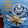Tee shirts worn by teachers, administration and staff at Hoover Elementary Monday as the school celebrated being named a National Blue Ribbon School by the US Department of Education. (Staff Photo by BILLY HEFTON)