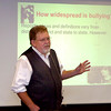 Malcolm L. Smith, Ph.D., CFLE from the University of New Hampshire, talks to classroom of educators, medical and mental health professionals and others during a conference on the Angry Child Thursday at NWOSU-Enid. (Staff Photo by BILLY HEFTON)