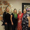 Jana Bean, Connie Franklin, Carolyn Morris, Vicky Flaming and Stan Tatum pause for a portrait during a reception honoring long time St. Mary's Regional Medical Center volunteer, Wanda Cook, on Wednesday, Oct. 2, 2013. St. Mary's Volunteers Tree of Life commemorates Cook's endowment gift and memoriam gifts honoring loved ones of patients and visitors of St. Mary's will fund future projects and scholarships awarded through the volunteer program at St. Mary's. (Staff Photo by BONNIE VCULEK)