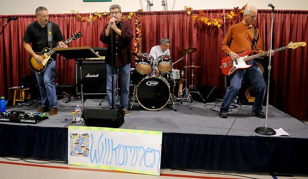 Crossrock performs during Redeemer Lutheran Church's Oktoberfest Saturday, Oct. 5, 2013. (Staff Photo by BONNIE VCULEK)