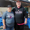 Susan Bench pauses for a portrait with her husband, Det. Robin Bench, during the Enid Fraternal Order of Police Lodge 144 benefit softball tournament Saturday, Oct. 26, 2013. Funds raised during the event will aid Susan Bench, who was diagnosed and treated for triple negative breast cancer. (Staff Photo by BONNIE VCULEK)