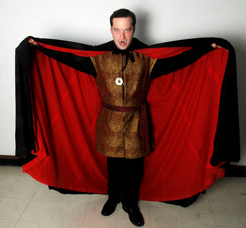 Monte Hunter portrays Dracula during Gaslight Theatre's performances Oct. 18-20, 24-26. (Staff Photo by BONNIE VCULEK)