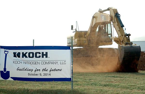 KOCH Groundbreaking Thursday, Oct. 9, 2014 (Staff Photo by BONNIE VCULEK)