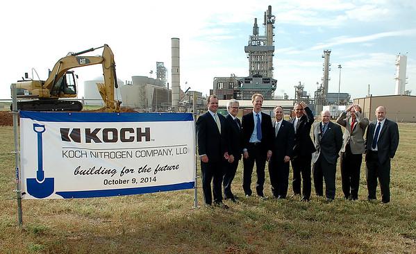 KOCH Nitrogen Company, LLC 1.3 Billion Dollar Expansion Groundbreaking east of Enid Thursday, Oct. 9, 2014. (Staff Photo by BONNIE VCULEK)