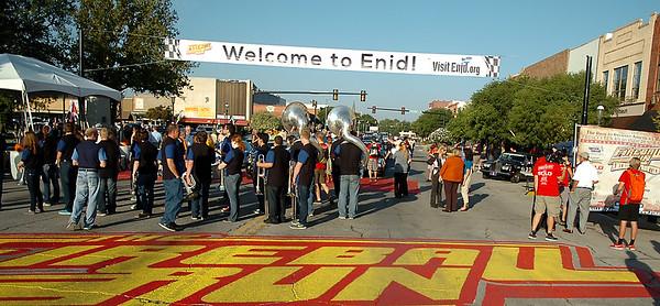 Fireball Run in downtown Enid, Okla. Wednesday, Oct. 1, 2014. (Staff Photo by BONNIE VCULEK)