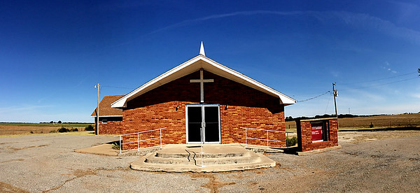 The Parker C.U. Church northwest of Ames will be celebrating their 120th anniversary October 12, 2014. (Staff Photo by BILLY HEFTON)