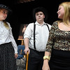 (left to right) Mikayla Aulner, Marcus Easterly and Elisabeth Aulner during a rehearsal of the Chisholm High School production of Last Will and Testament. The play will be presented at 7 p.m. November 1. (Billy Hefton / Enid News & Eagle)