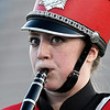 A member of the Kremlin-Hillsdale marching band during the band's performance in the Tri-State Marching contest Tuesday October 4, 2016. (Billy Hefton / Enid News & Eagle)