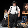 Mikayla Aulner and Marcus Easterly during a rehearsal of the Chisholm High School production of Last Will and Testament. The play will be presented at 7 p.m. November 1. (Billy Hefton / Enid News & Eagle)