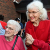 Effie Outhier (left) and Audie Pitsiri, who attended Adams Elementary from 1936-1940, during an interview at the 100th birthday party from the school Thursday October 27, 2016. (Billy Hefton / Enid News & Eagle)