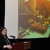 Lucy Swanson, the founder and Executive Director of The Arts in Guthrie, talks about the economic impact that the arts has on communities during the 2017 Oklahoma Arts Conference Wednesday October 25, 2017 at the Central National Bank Center. (Billy Hefton / Enid News & Eagle)