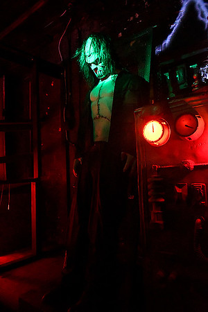 Inside the Nightmare Warehouse which opens this weekend. (Billy Hefton / Enid News & Eagle)