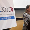 Jennifer Monies, Executive Director Oklahoma Achieves, during the OK2030 Regional Forum Thursday October 18, 2018 at the Oakwood Country Club. (Billy Hefton / Enid News & Eagle)