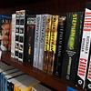 A shelf of books in the horror section of Putnam Six Bookstore Monday October 22, 2018 in Sunset Plaza. (Billy Hefton / Enid News & Eagle)