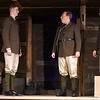 """Chad Swanson, Alex Ewald, Alex Johnson and Mitch Lyon during a rehearsal for the Gaslight Theatre production of """"Journey's End"""" Wednesday October 17, 2018. (Billy Hefton / Enid News & Eagle)"""
