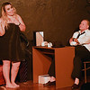 "Ashley McConnell and Jim Clark rehearse the one act play ""Murder by Midnight""  Monday, October 7, 2019 at the Turpin Theater. (Billy Hefton / Enid News & Eagle)"