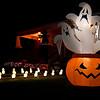 Halloween decorations on west Cherokee street. (Billy Hefton / Enid News & Eagle)