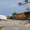 A semi sits on the north side of 100 East Garriott after losing half of it's trailer in a collision with a train Saturday, October 5, 2019. (Billy Hefton / Enid News & Eagle)