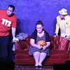 "Brad Estabrooks, Emily Nelson and Karen Main rehearse the one act play ""Murder by Midnightl"" Monday, October 7, 2019 at the Turpin Theater. (Billy Hefton / Enid News & Eagle)"