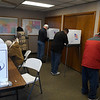 People take part in early voting for the presidental election at the Garfield County Election Board Thursday, October 29, 2020,  (Billy Hefton / Enid News & Eagle)