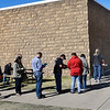 People wait in line to take advantage of early voting at the Garfield County Election Board Friday, October 30, 2020. (Billy Hefton / Enid News & Eagle)