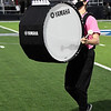 A member of the Enid High marching band during pregame of the Enid v Santa Fe football game Friday October 30, 2020 at D. Bruce Selby Stadium. (Billy Hefton / Enid News & Eagle)